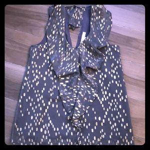 BCBG blouse v-neck sleeveless